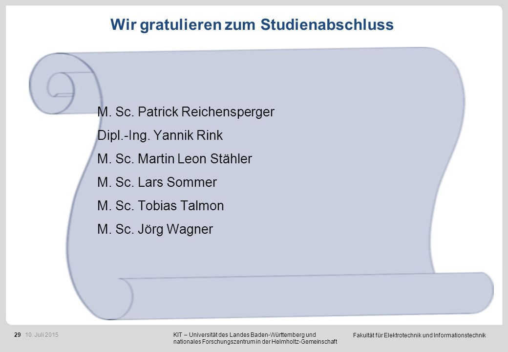 53 Promotionen im Studienjahr 2014/2015
