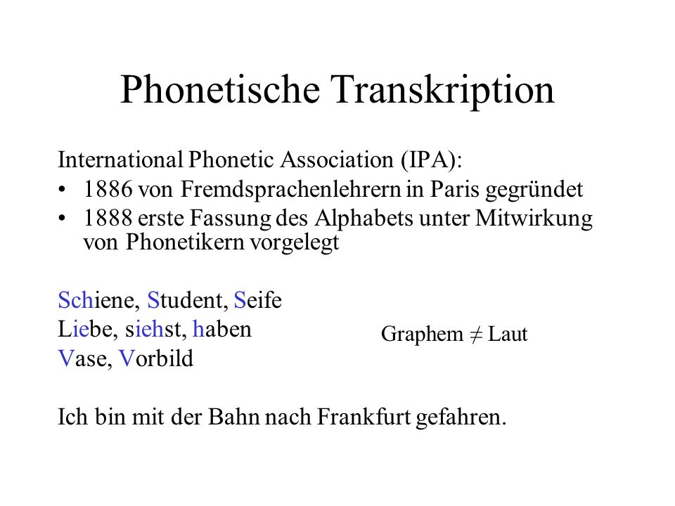 Phonetische Transkription