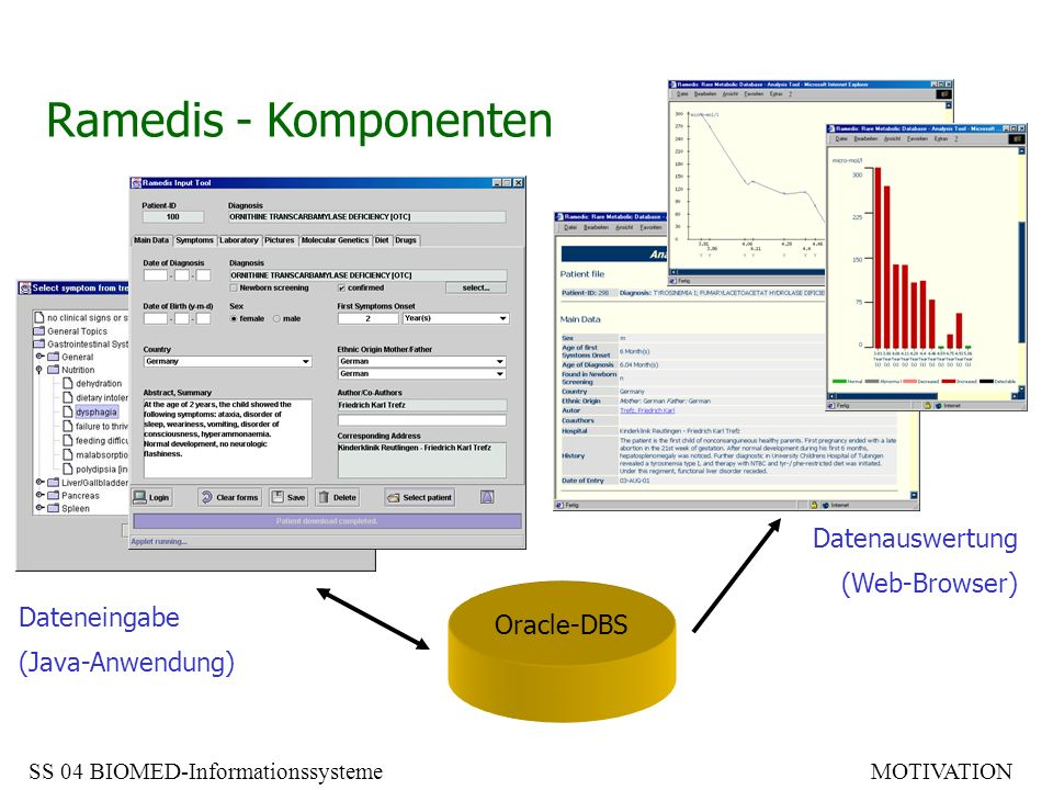 Ramedis - Komponenten Datenauswertung (Web-Browser) Dateneingabe
