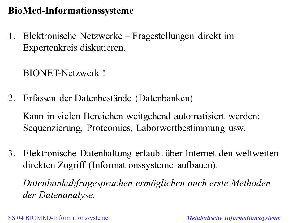 BioMed-Informationssysteme