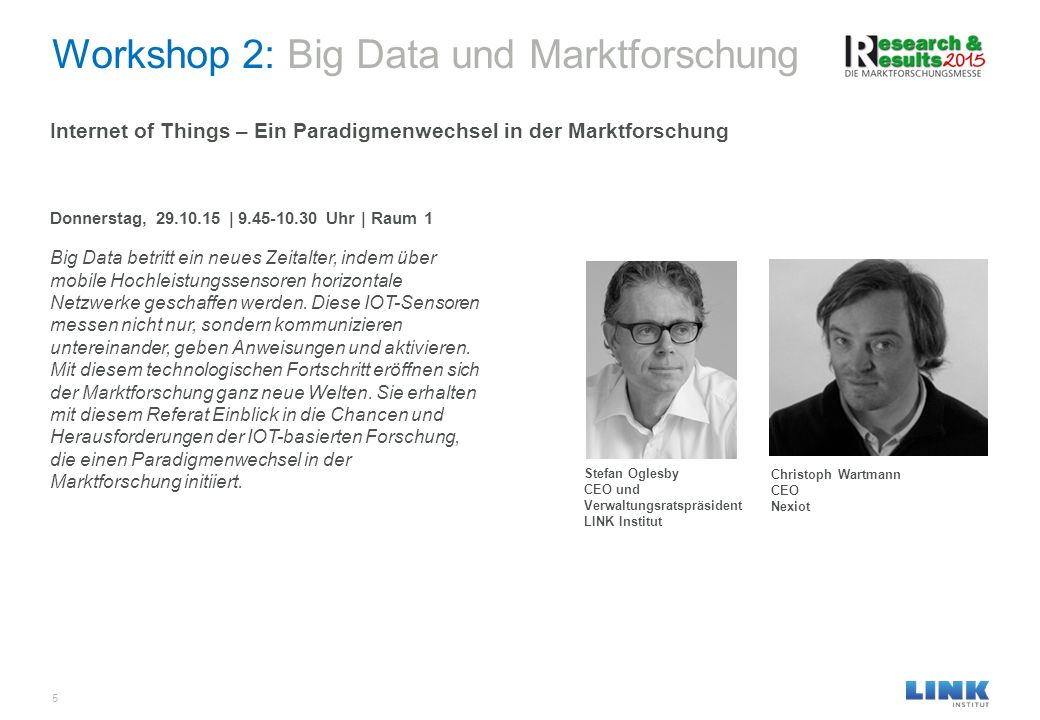 Workshop 2: Big Data und Marktforschung