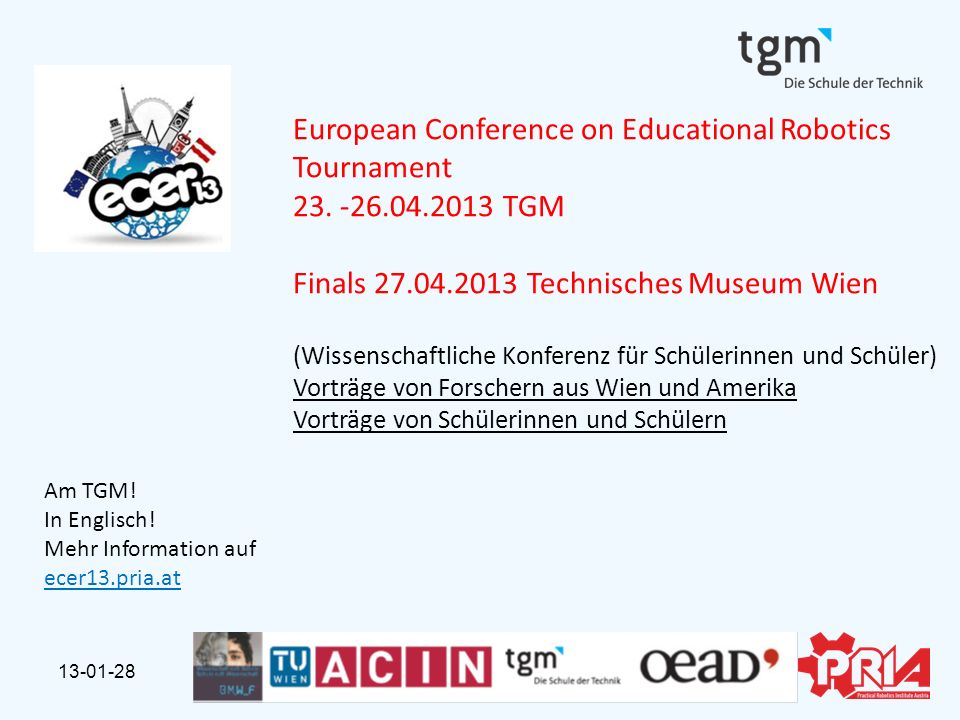 European Conference on Educational Robotics Tournament