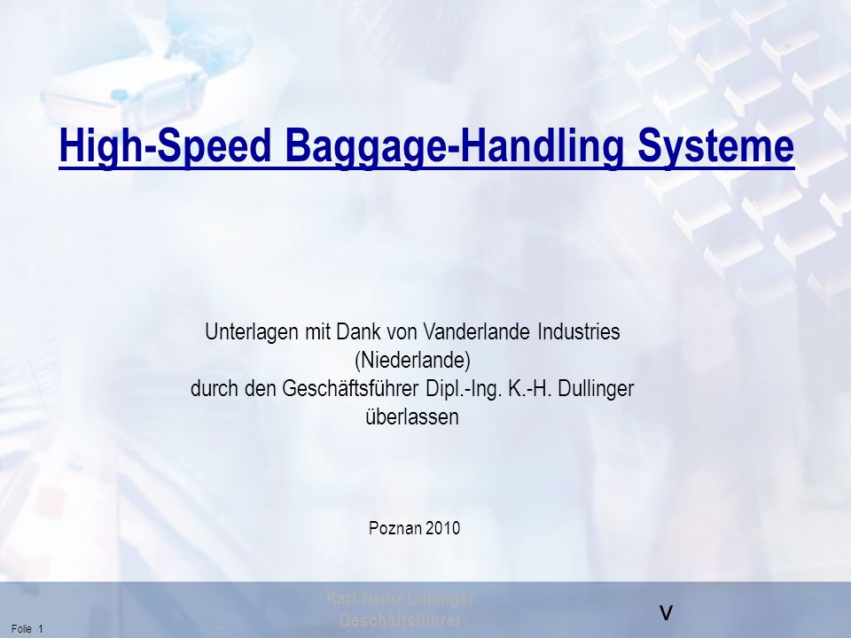 High-Speed Baggage-Handling Systeme