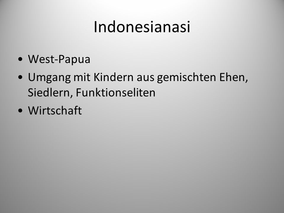 Indonesianasi West-Papua