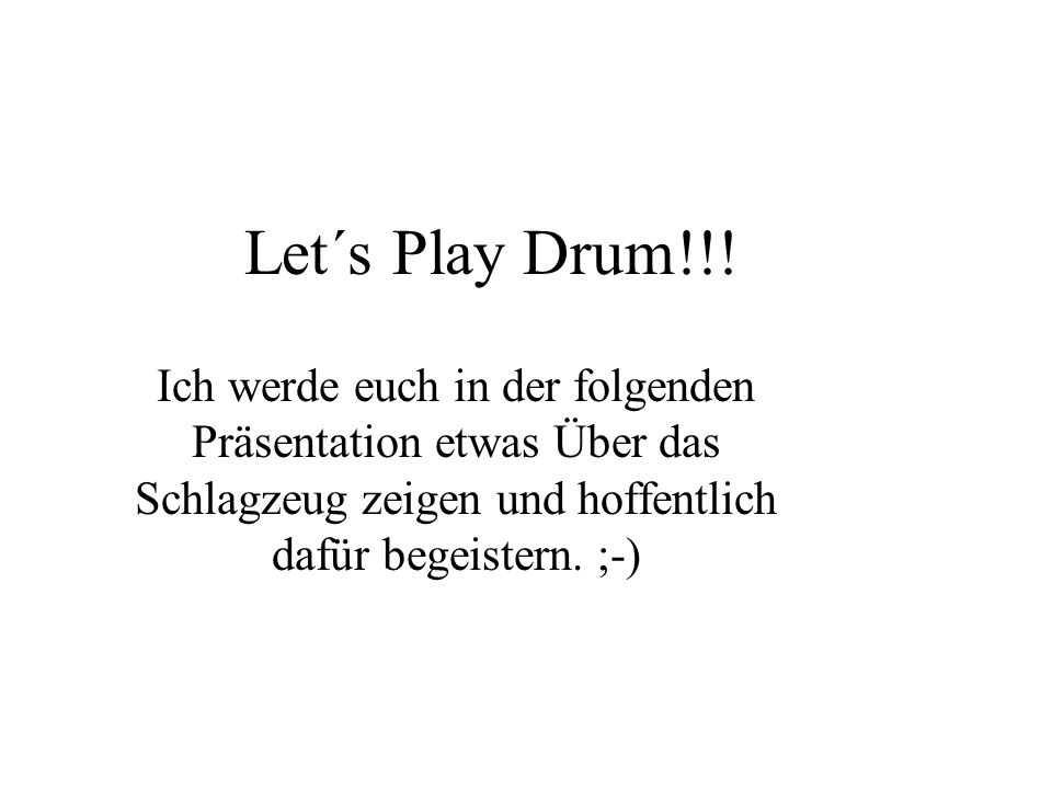 Let´s Play Drum!!.
