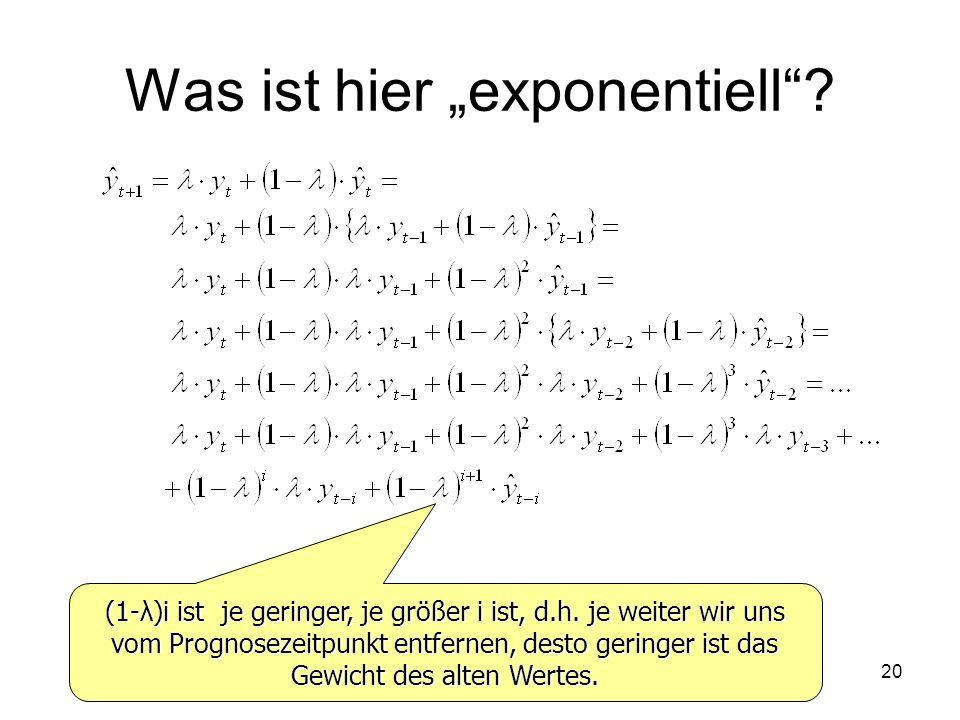 "Was ist hier ""exponentiell"