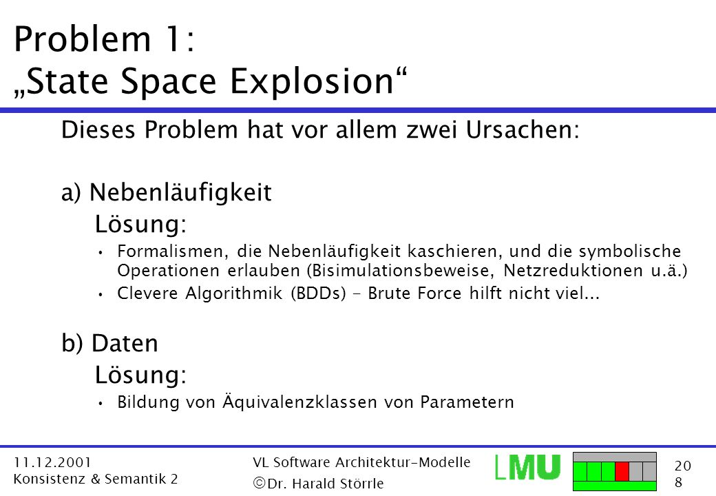 "Problem 1: ""State Space Explosion"