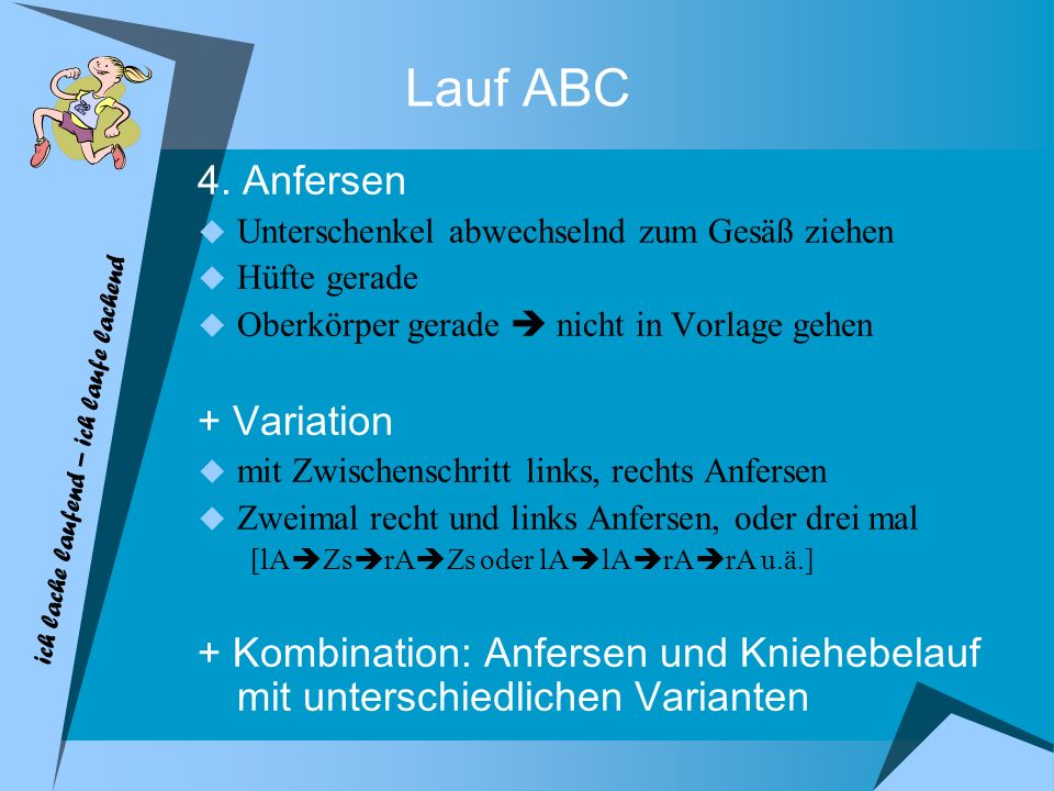 Lauf ABC 4. Anfersen + Variation