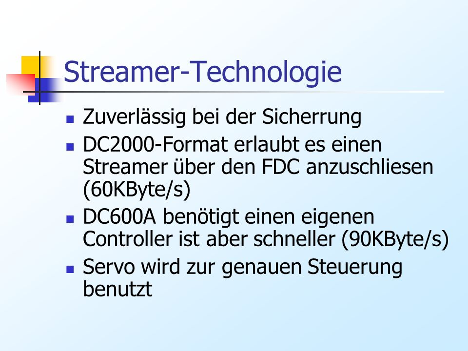 Streamer-Technologie