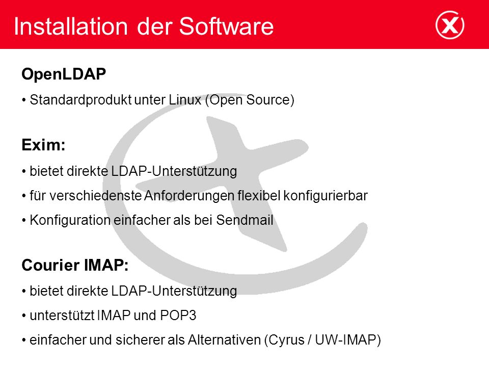 Installation der Software