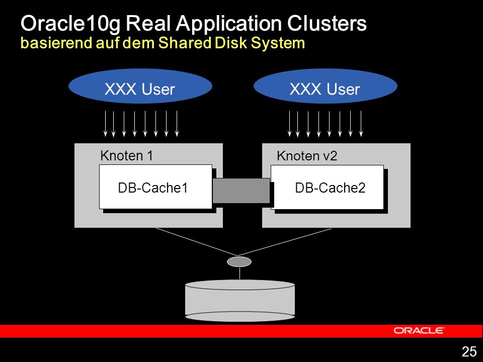 Oracle10g Real Application Clusters basierend auf dem Shared Disk System