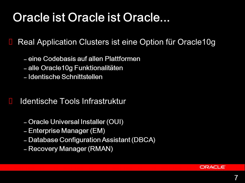 Oracle ist Oracle ist Oracle...