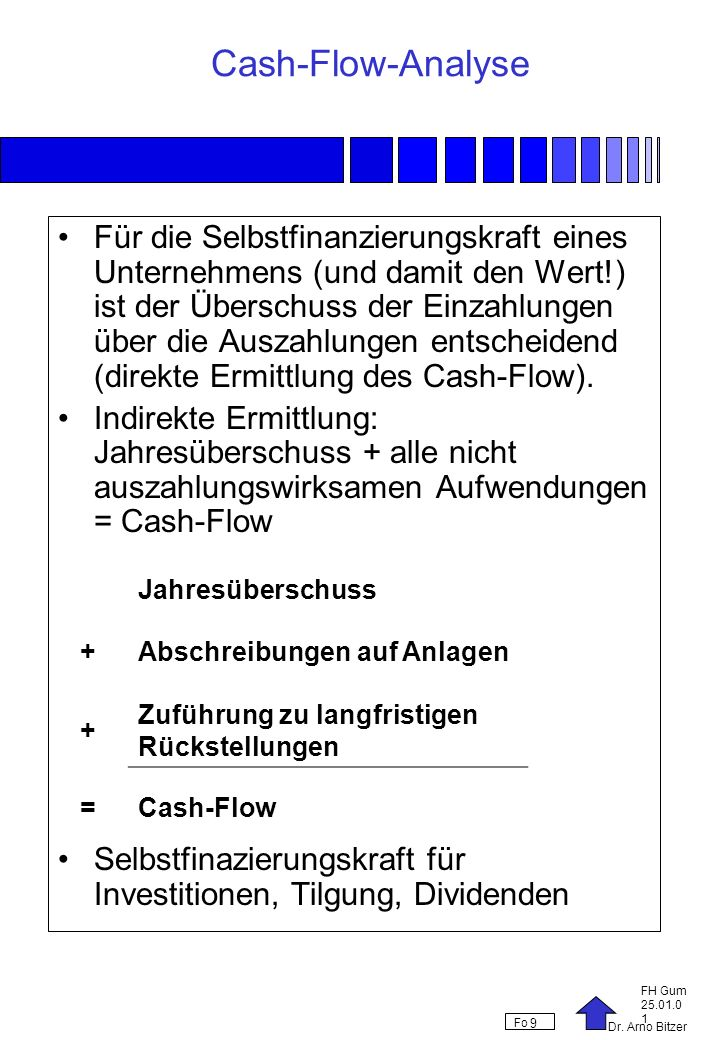 Cash-Flow-Analyse