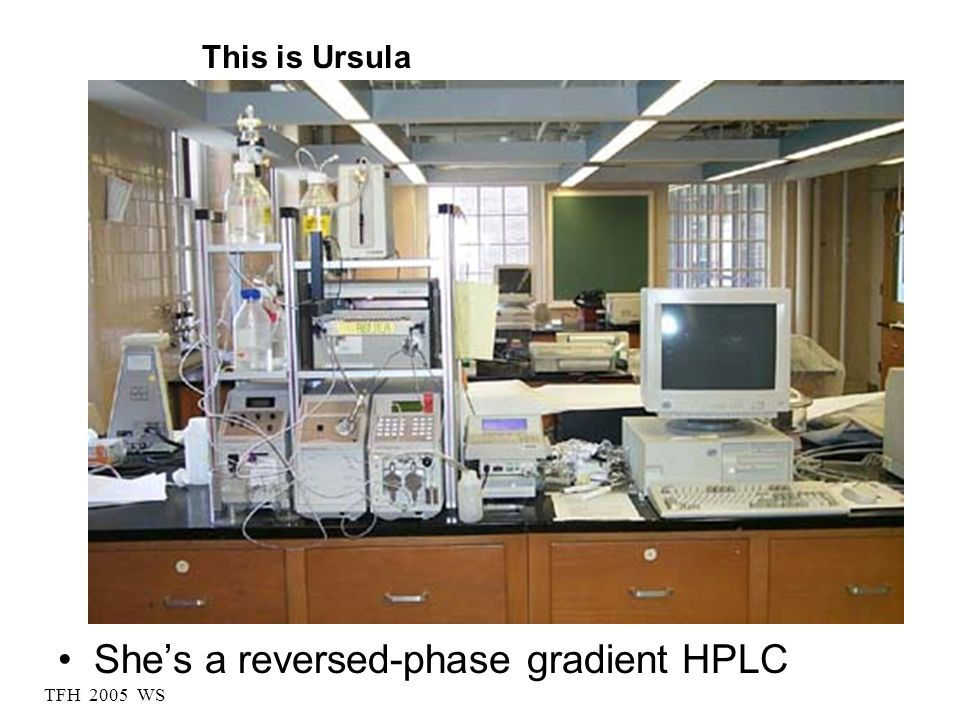She's a reversed-phase gradient HPLC