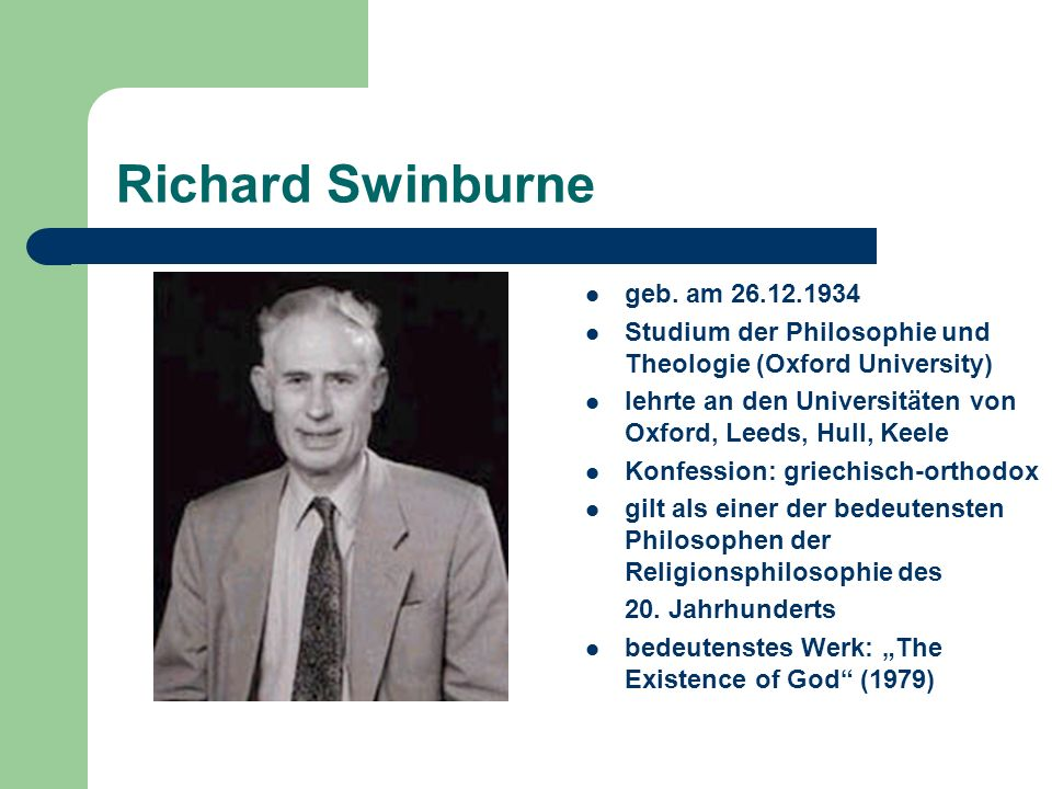 Richard Swinburne geb. am