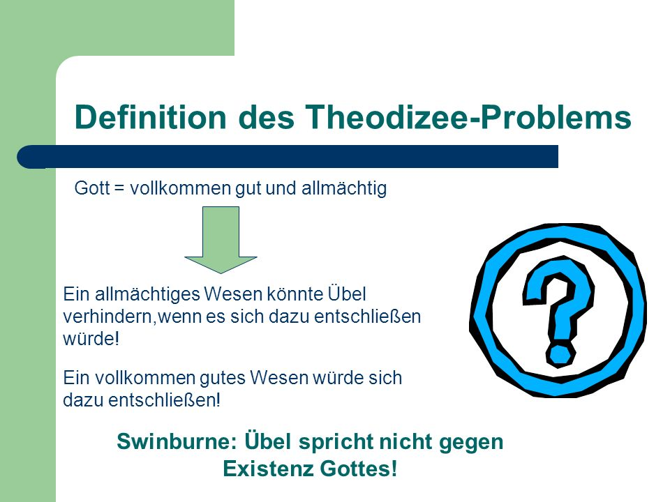 Definition des Theodizee-Problems