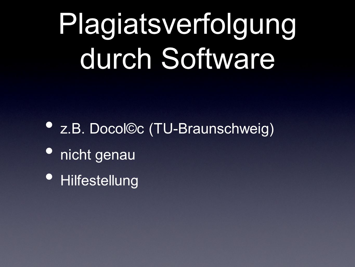 Plagiatsverfolgung durch Software