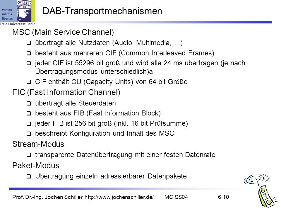 DAB-Transportmechanismen