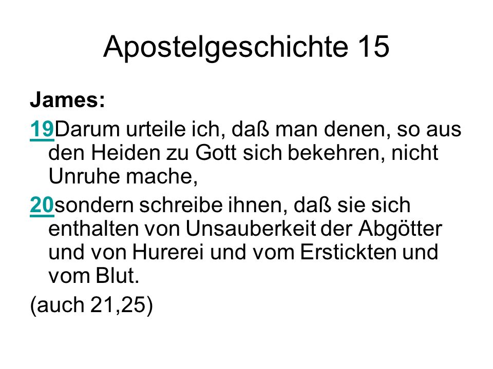 Apostelgeschichte 15 James: