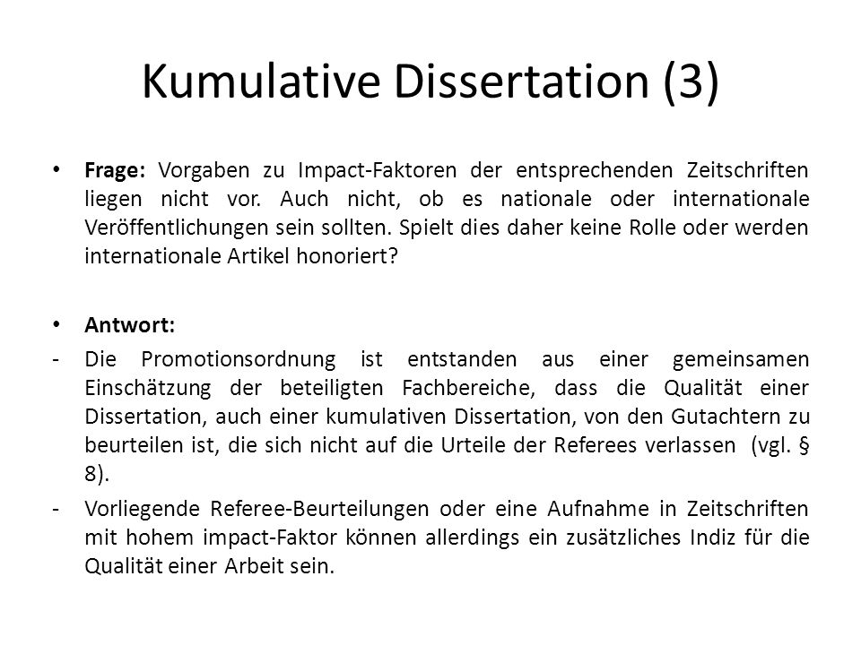 kumulative dissertation vwl