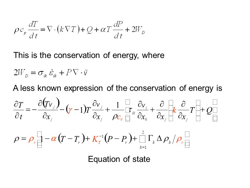 This is the conservation of energy, where