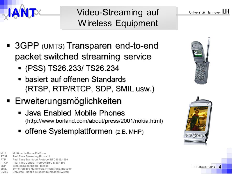 Video-Streaming auf Wireless Equipment