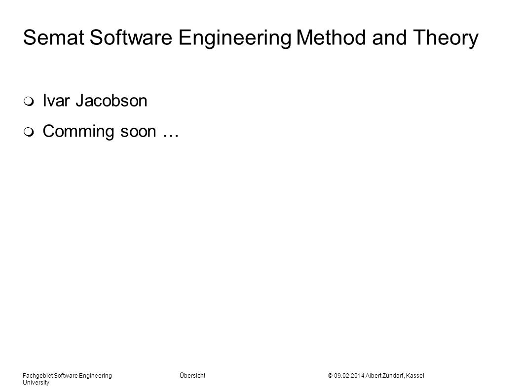Semat Software Engineering Method and Theory