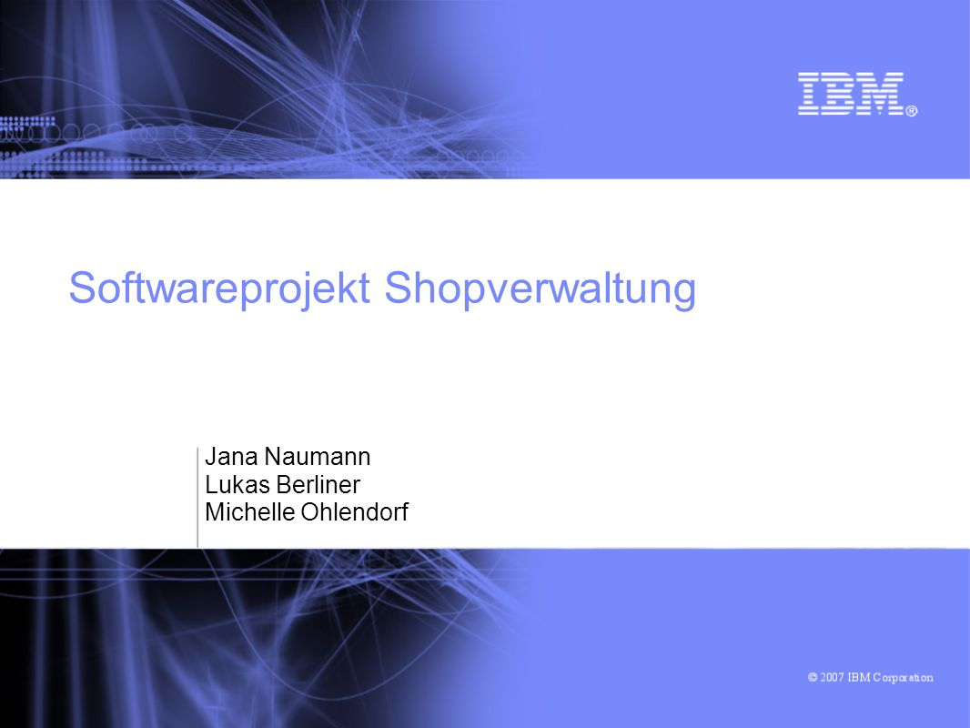 Softwareprojekt Shopverwaltung