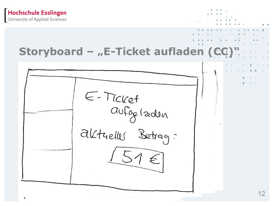 "Storyboard – ""E-Ticket aufladen (CC)"