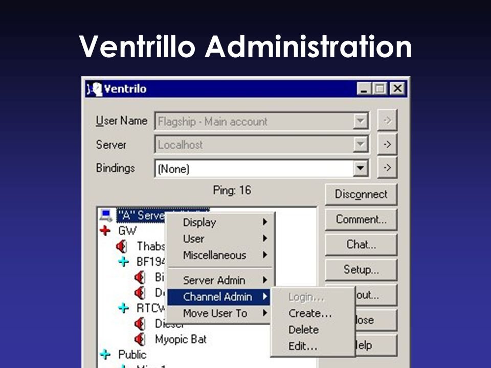 Ventrillo Administration