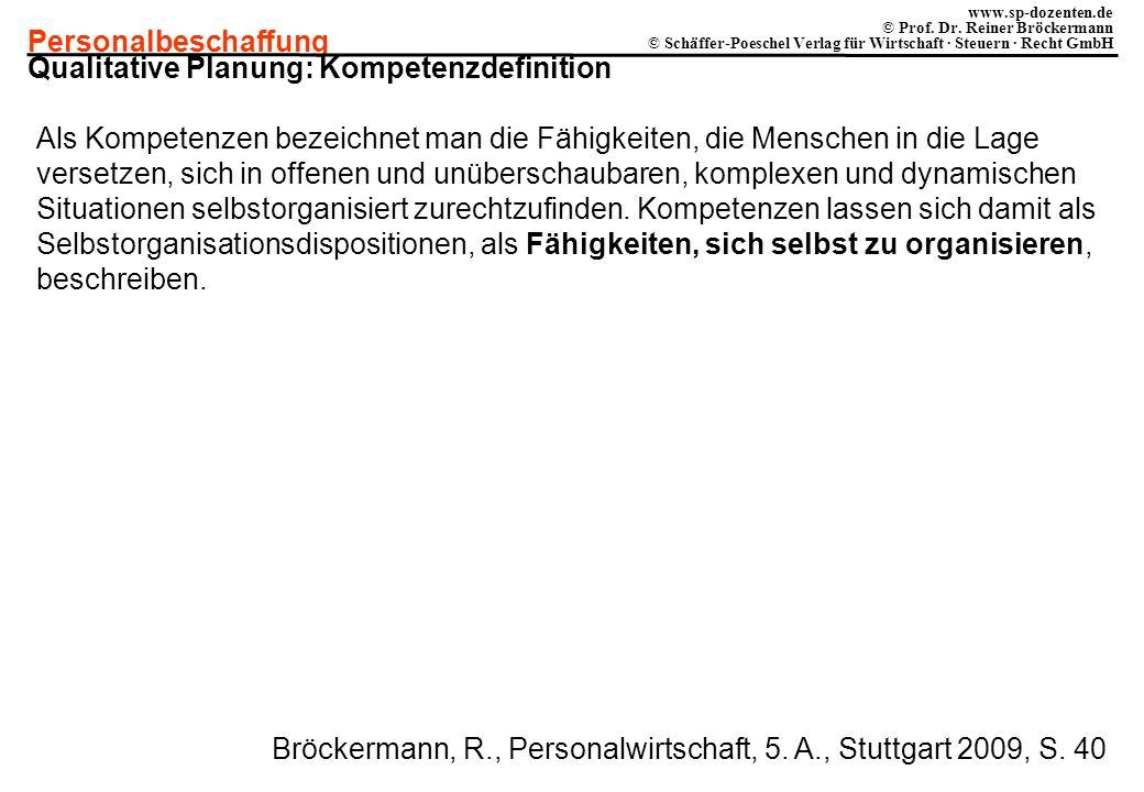 Literaturhinweis Bröckermann, R., Personalwirtschaft, 5. Auflage ...