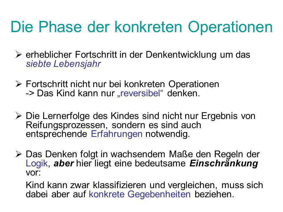 Die Phase der konkreten Operationen