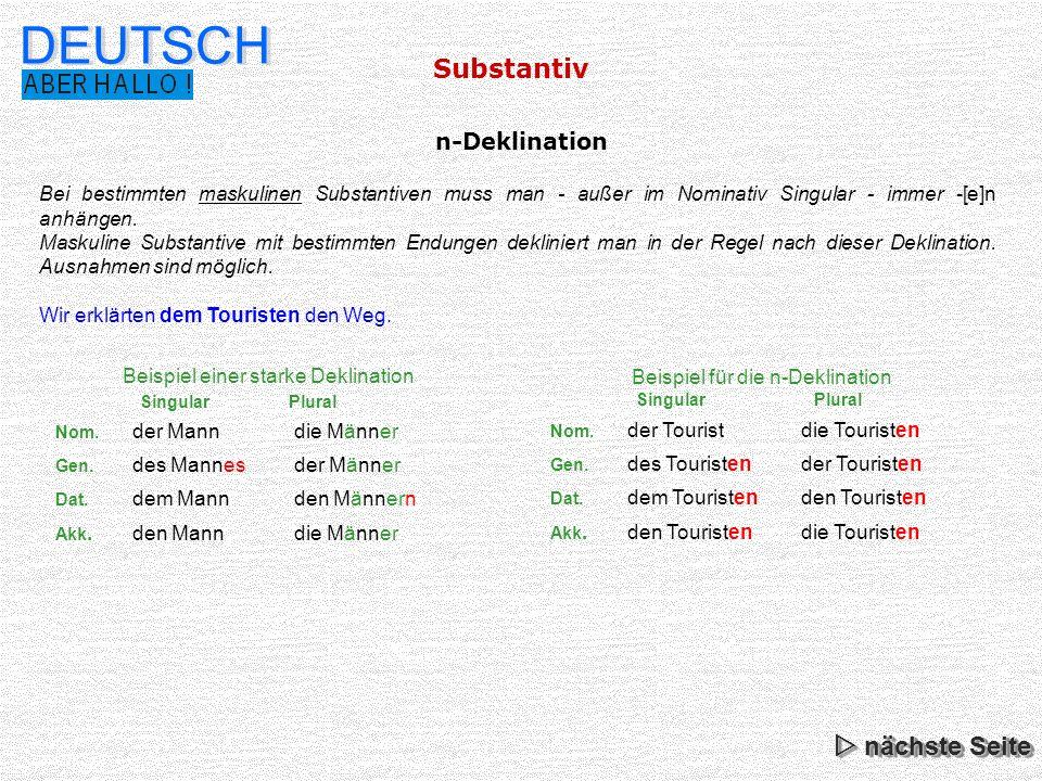 Beste Singular Und Plural Besitzergreifend Substantive Einer Tabelle ...