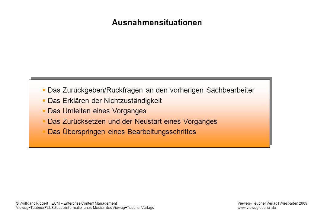 Ausnahmensituationen