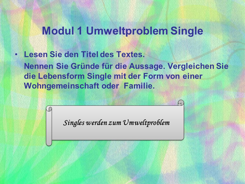 Modul 1 Umweltproblem Single