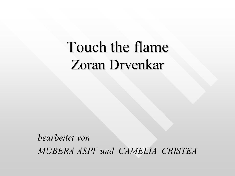 Touch the flame Zoran Drvenkar