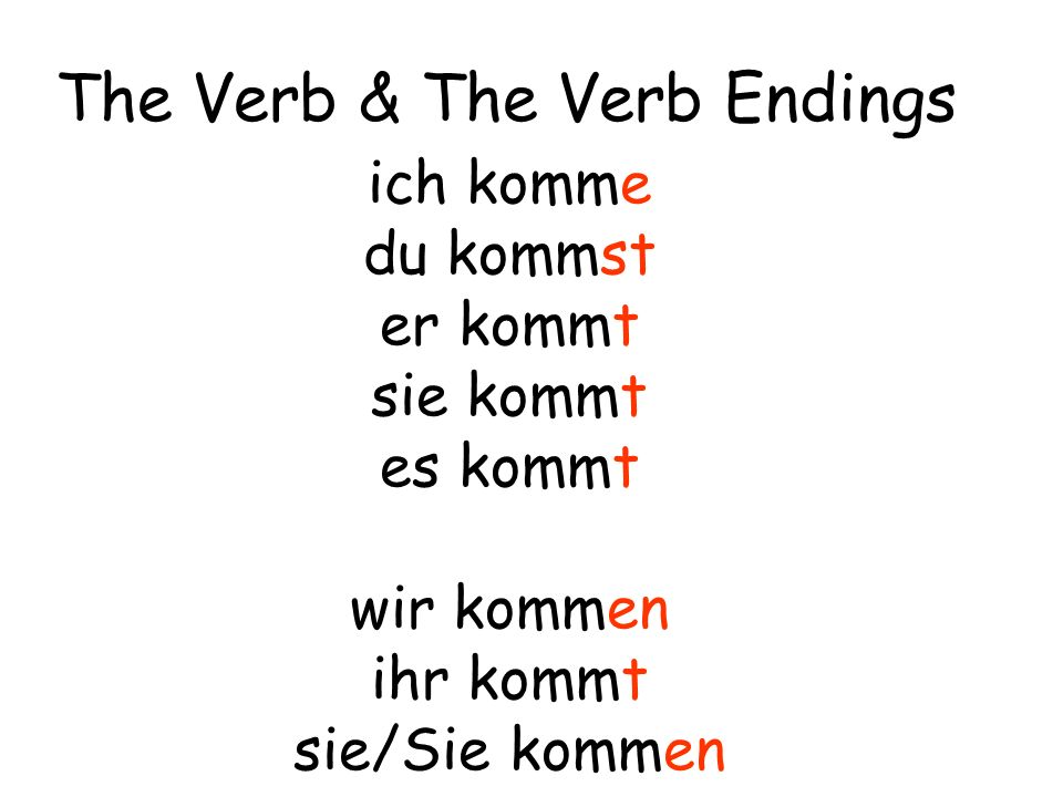 The Verb & The Verb Endings