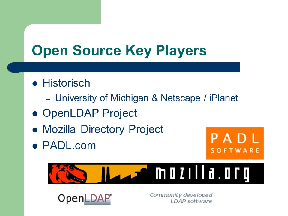 Open Source Key Players