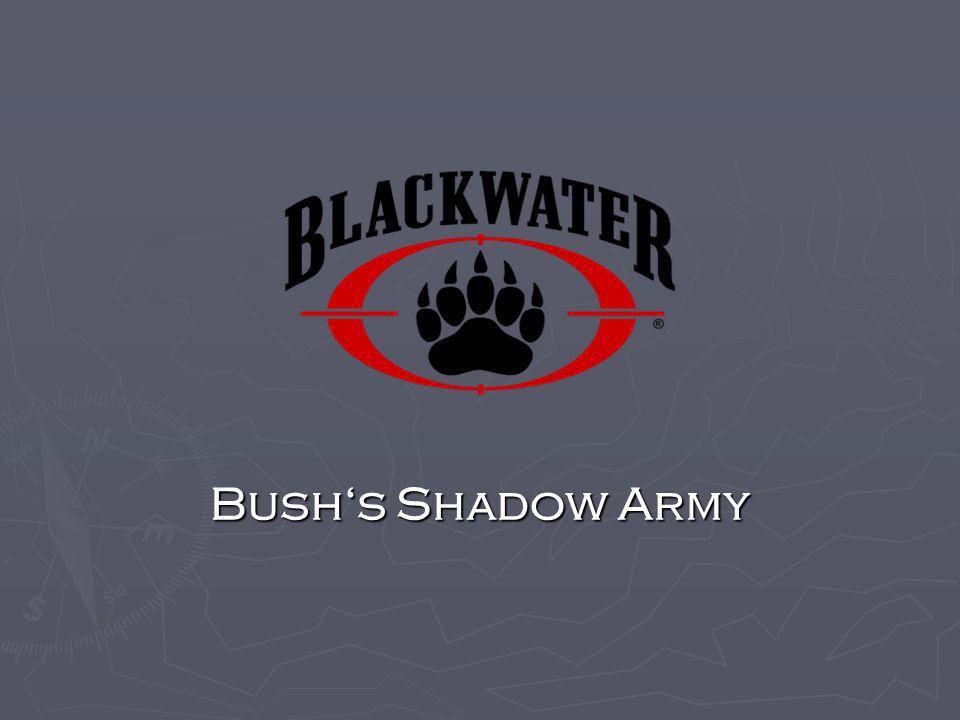 Bush's Shadow Army