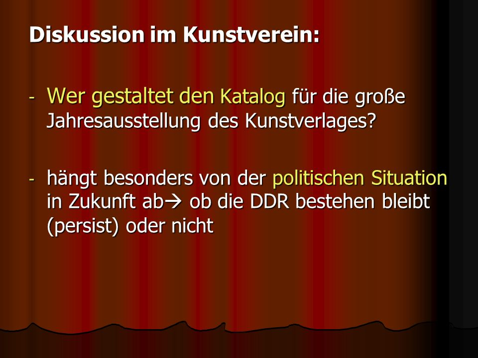 Diskussion im Kunstverein: