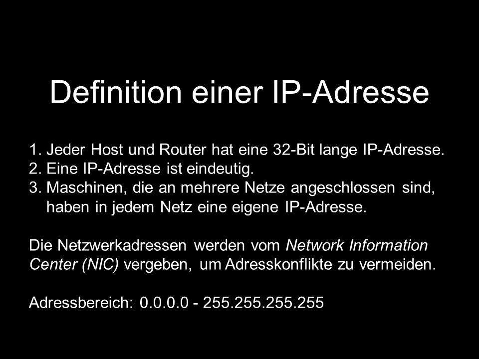 Definition einer IP-Adresse