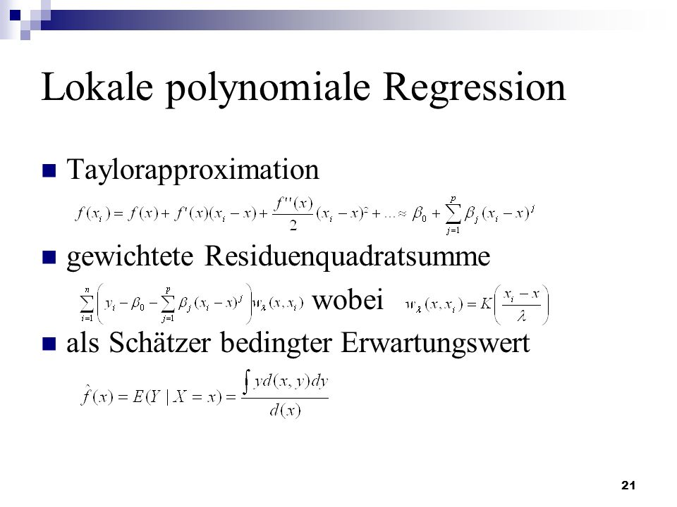 Lokale polynomiale Regression