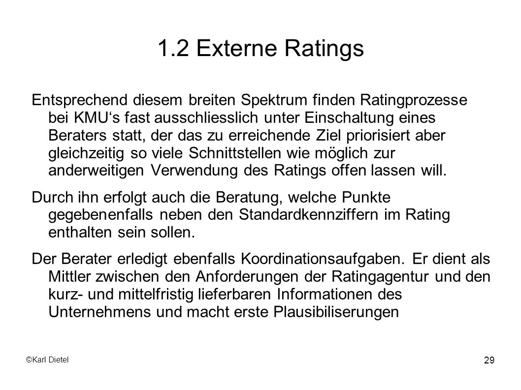1.2 Externe Ratings