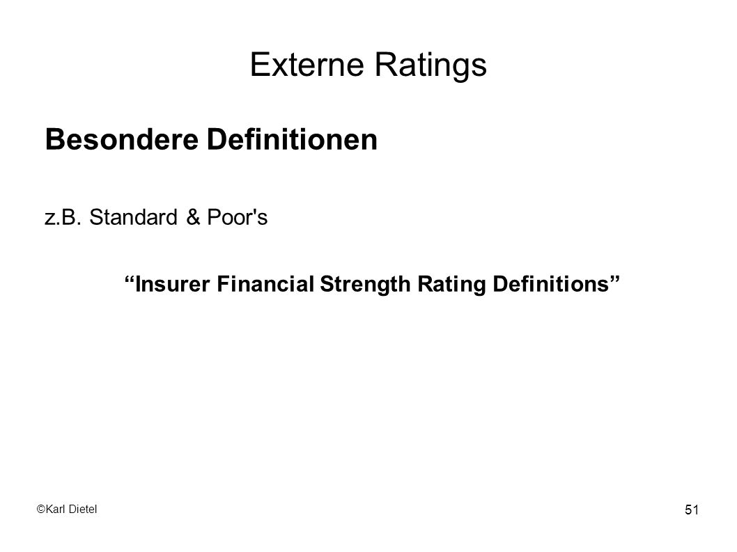 Insurer Financial Strength Rating Definitions
