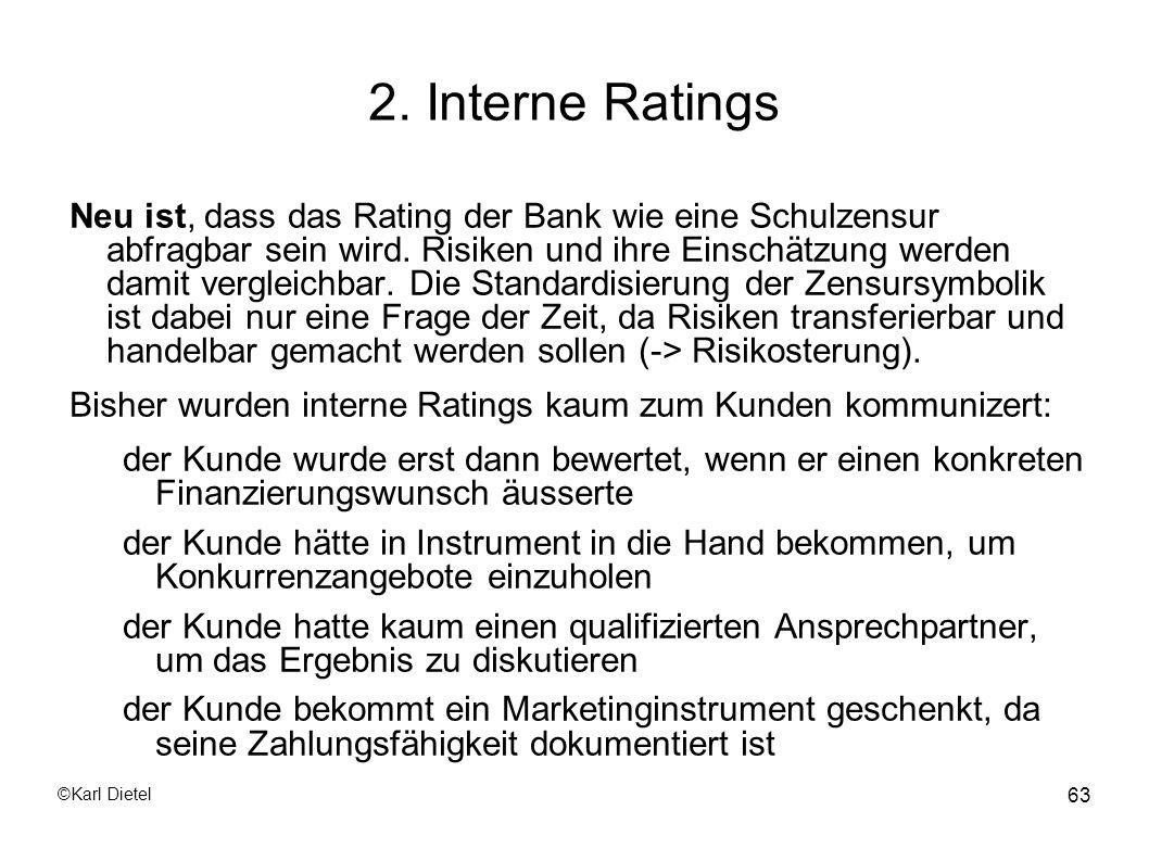 2. Interne Ratings