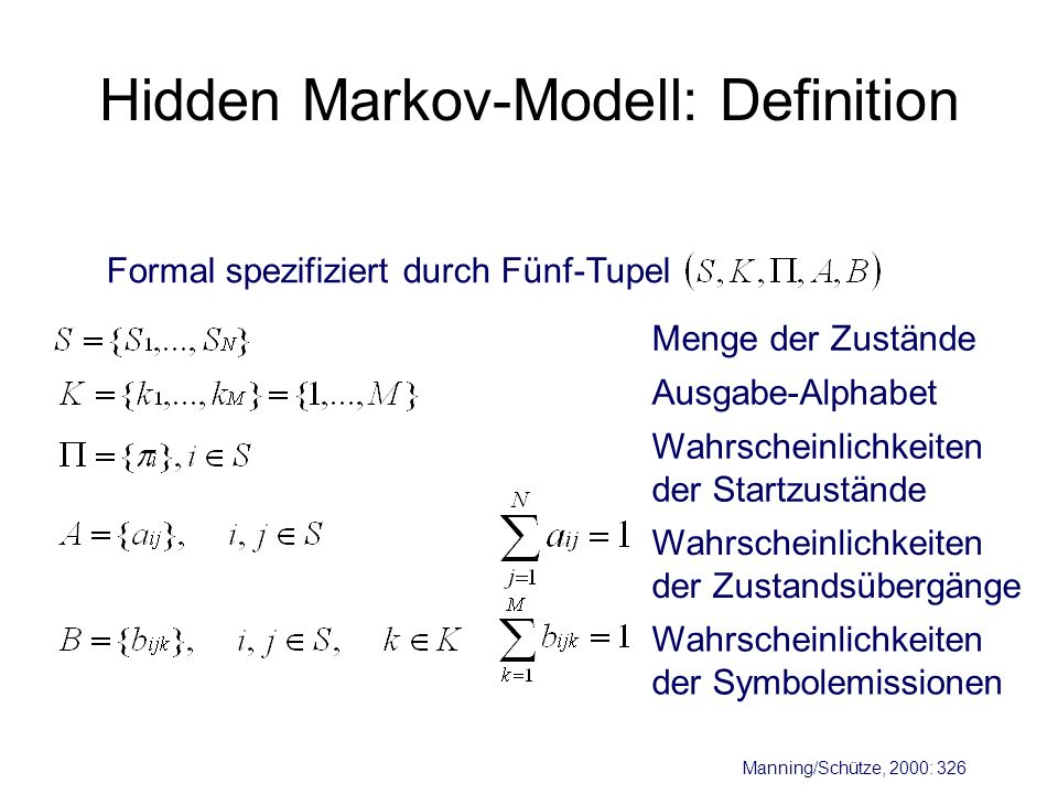 Hidden Markov-Modell: Definition
