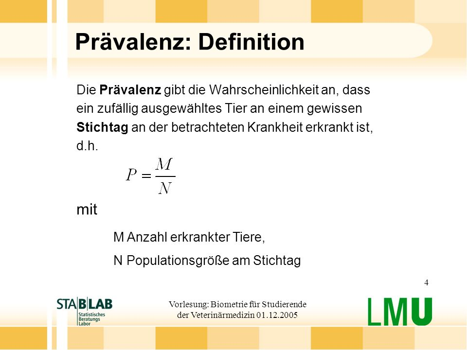 Prävalenz: Definition