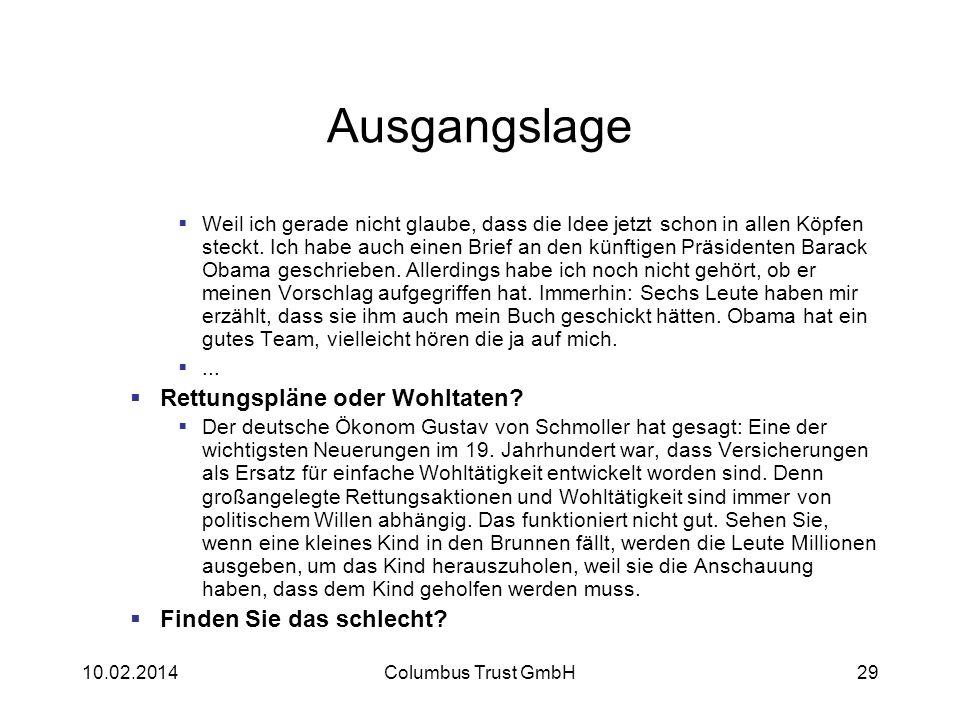 Strategien Finanzdienstleister Columbus Trust GmbH. - ppt herunterladen