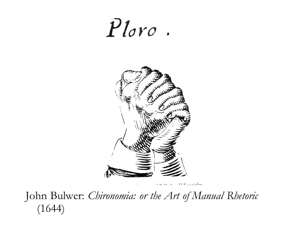 John Bulwer: Chironomia: or the Art of Manual Rhetoric (1644)