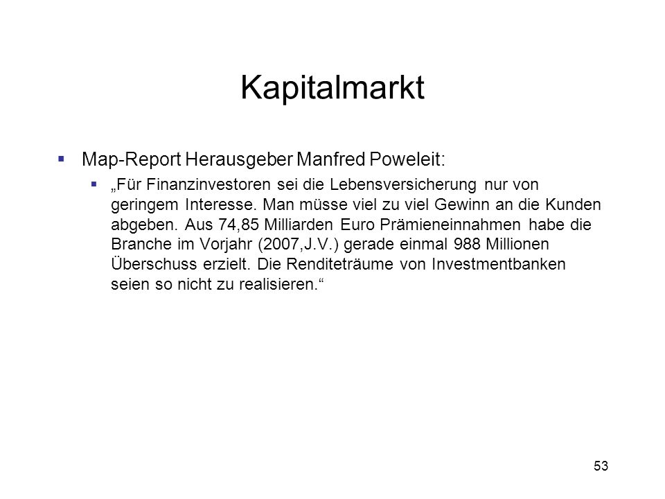 Kapitalmarkt Map-Report Herausgeber Manfred Poweleit: